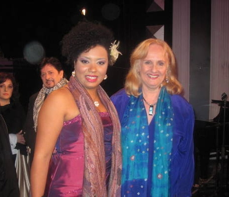 Luciana Distante (Second Place Winner from Brazil) and Nancy Rhodes (Jury Member)