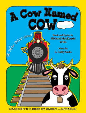 "- A Cow Named Cow is an original musical farce for children (and their parents) with book and lyrics by Michael MacKenzie Wills (creator/writer/director of the MAC Award winning Operation Opera, and the New York Times recommended kid's show The Adventures of Superbunny), music by C. Colby Sachs (composer of the notorious Amy Fisher: The Musical), and based on the ""You Color It"" storybook series A Cow Named Cow by award winning author Amber L. Spradlin.With hummable songs and catchy lyrics, A Cow Named Cowteaches us the importance of friends and family. When Cow is separated from his herd he meets both friend and foe and has to use teamwork to come up with a plan to stop a villain from taking over the world. This comedy is aimed to please both parents and children of all ages."
