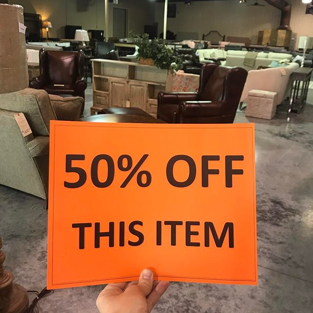 We've got to make room for the NEW things coming so come get a fantastic deal!!! #50percentoff #dontwanttomissit #itsalmoststealing #slashingprices #salesalesale #furnituresale #furnituredesign