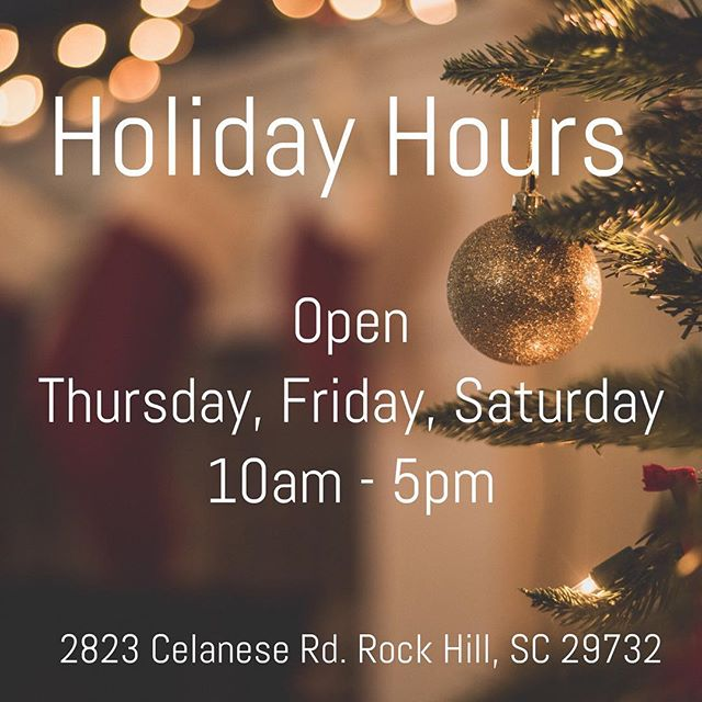 Don't forget to check out our new hours! We will still be open Monday-Friday for design appointments and deliveries.  #holidaysarehere #tistheseason #christmas