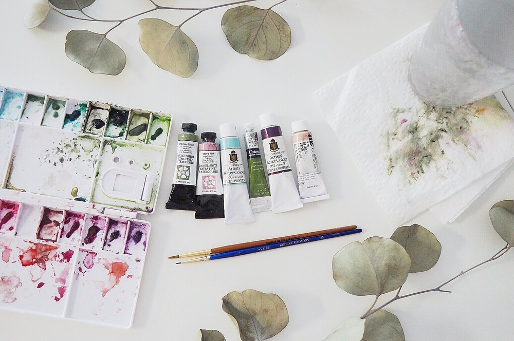 the little post about my watercolor essentials anna liisa moss