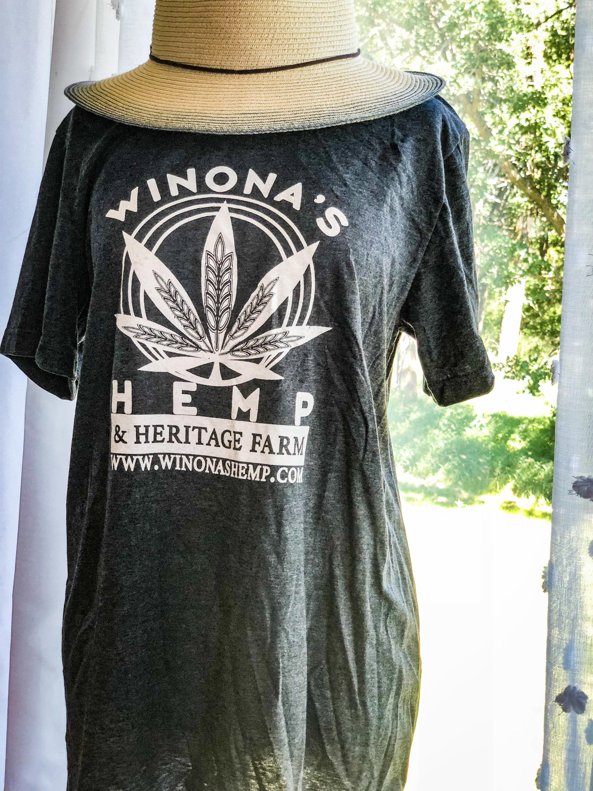 Winona S Hemp Grey Tshirt Winona S Hemp Heritage Farm