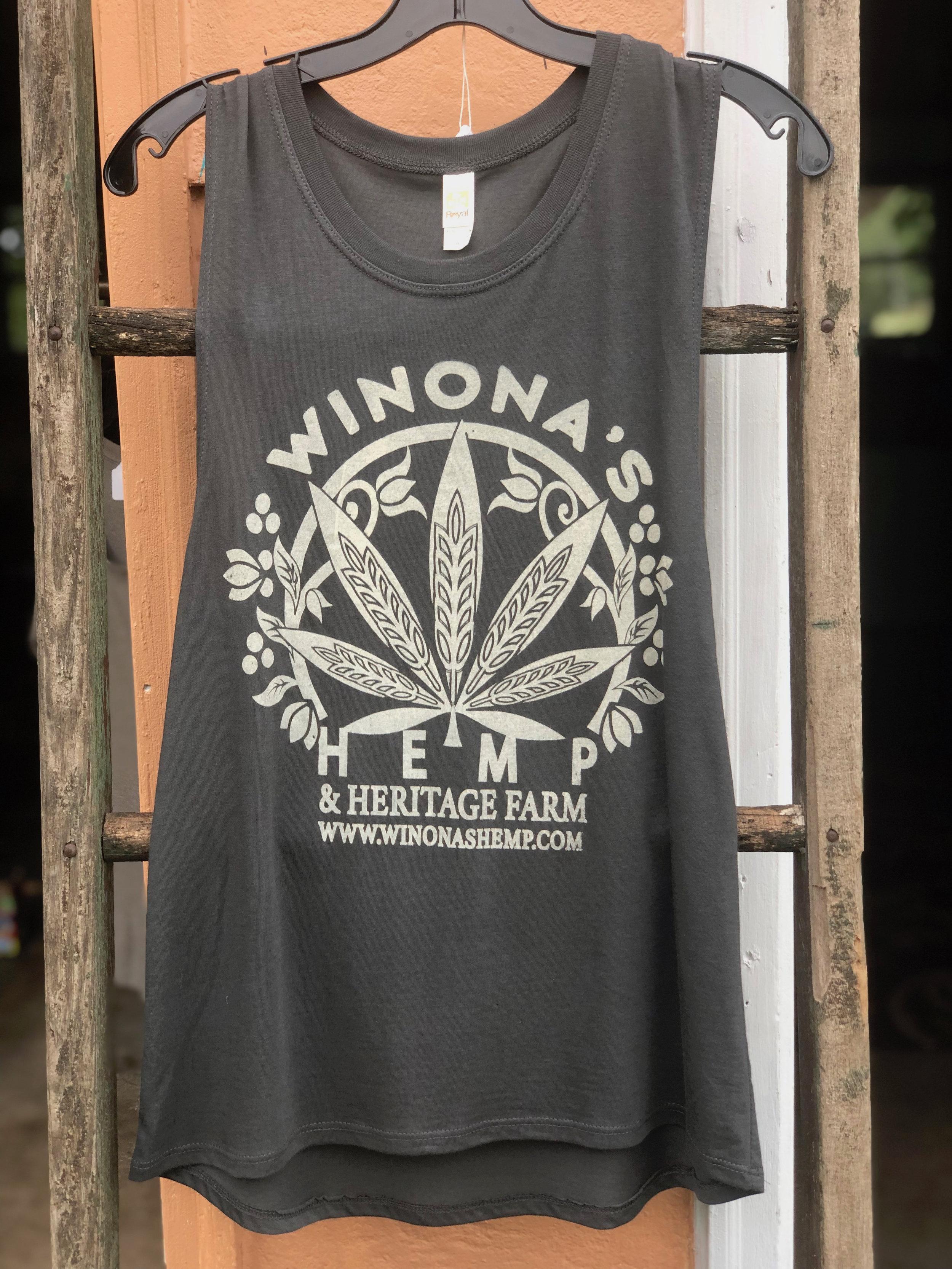 Winona S Hemp Women S Bamboo Organic Cotton Muscle Shirt Winona S Hemp Heritage Farm