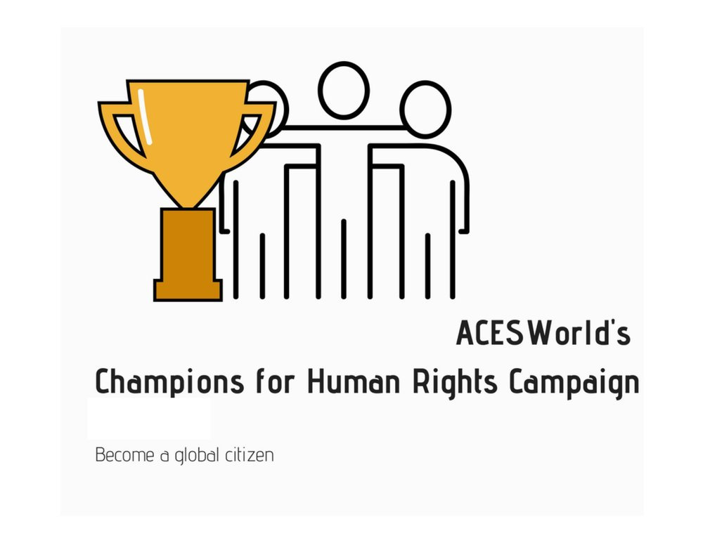 - Champions for Human Rights is a fundraising initiative that puts the power to help women and girls into your hands. Step 1: Register below as a Champion who cares about women's and girl's rights.  You can work as an individual, join a team or form a team.Step 2: We email a Champions Toolkit and a code to setup your Champion pageStep 3: Recruit more Champions and have them signup here.              Step 4: Find sponsors who will pledge per video made and have them make their pledge on your Champion page.                                                        Step 5: Find participants to record human rights video and post on social media.