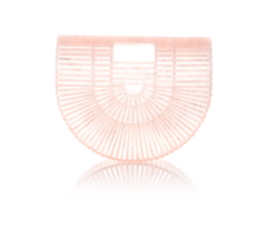 Cult Gaia Acrylic Ark Bag  - $240  One of the prettiest and also the most Instagram popular bag I've ever seen!