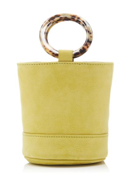 Simon Miller Nubuck Bonsai 15cm With Strap  - $392 I've seen this adorable bucket bag everywhere on Instagram!