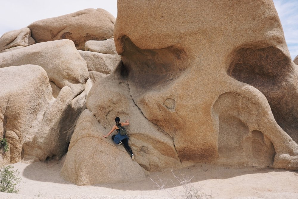 Me trying to climb the Skull Rock and failed XD