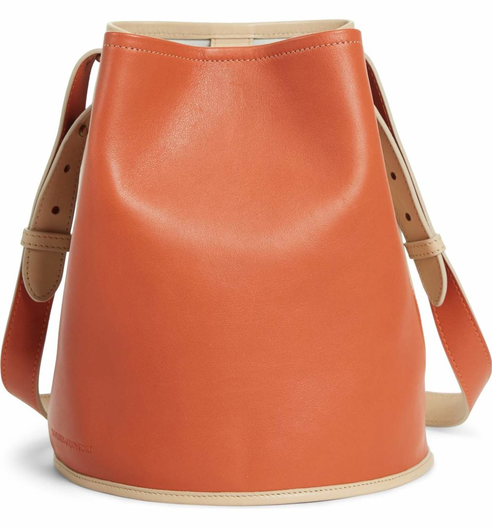 Creatures of Comfort Small mall Bucket Bicolor Leather Bag - $314.98 - 40% Off