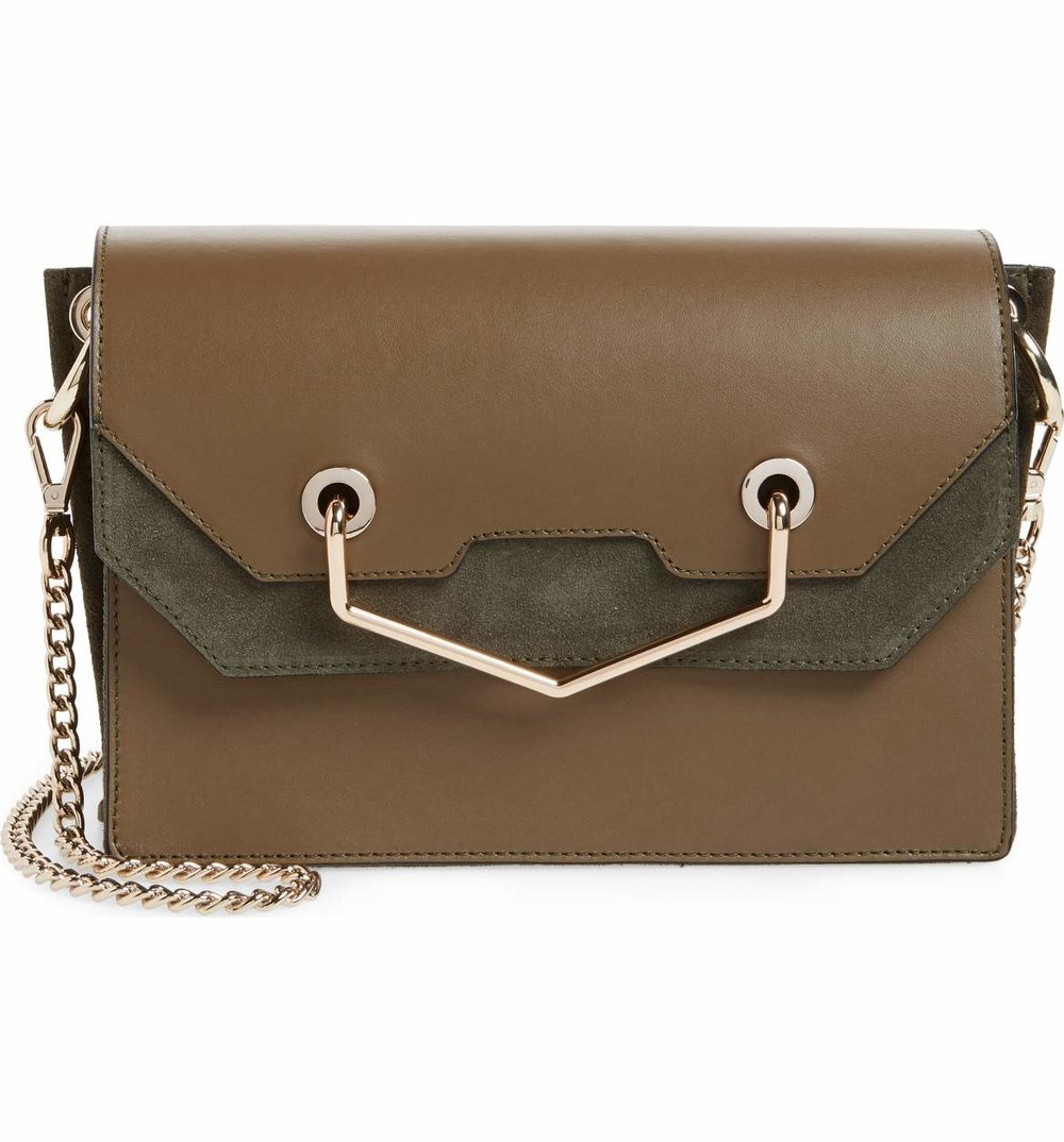 Topshop Premium Leather & Suede Soko Shoulder Bag - $89.98 -50% Off