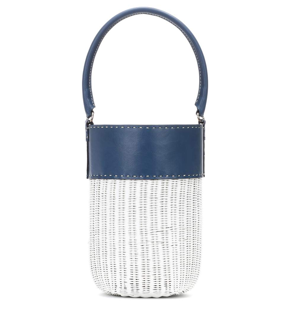 KAYU Lucie leather-trimmed bucket bag  - $143 -30% Off