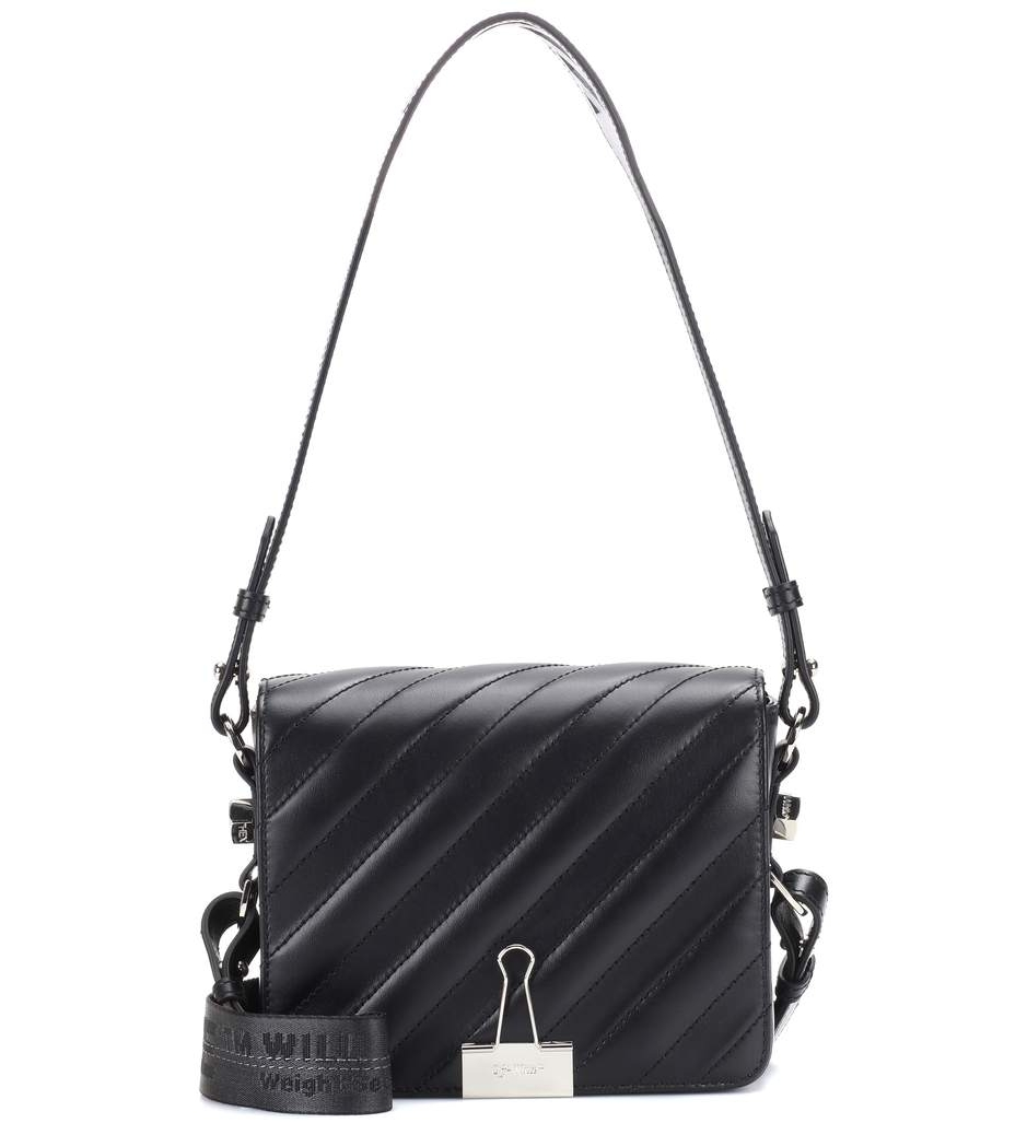 Off-WhiteBinder Clip leather shoulder bag - $1,001 -30% Off