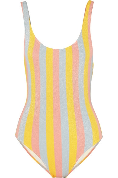 Solid & Striped The Anne-Marie glittered striped swimsuit - $85 -50% Off