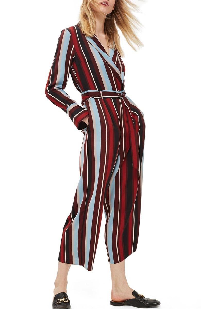 Topshop - Stripe Jumpsuit