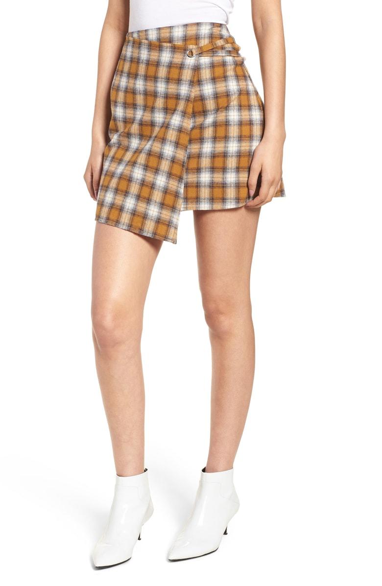 Ten Sixty Sherman - Plaid Wrap Panel Skirt