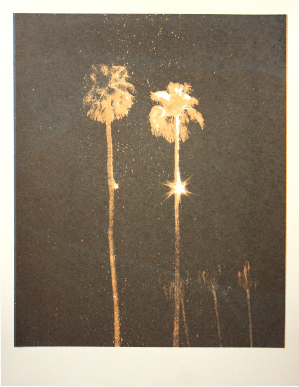 Lights In Trees #1, silkscreen, 2013