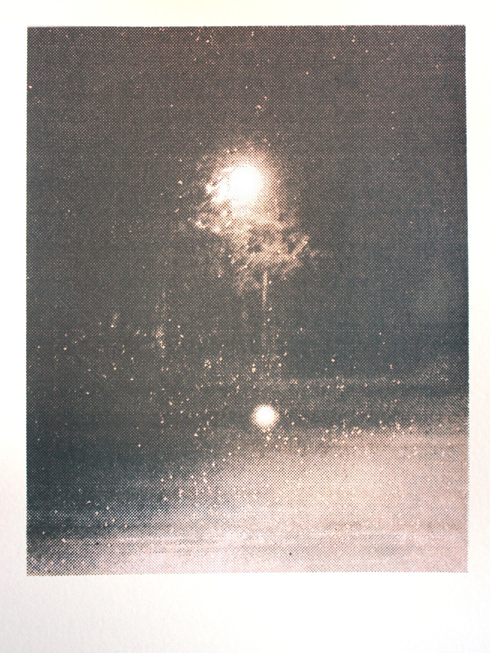 Lights In Trees #2, silkscreen, 2013
