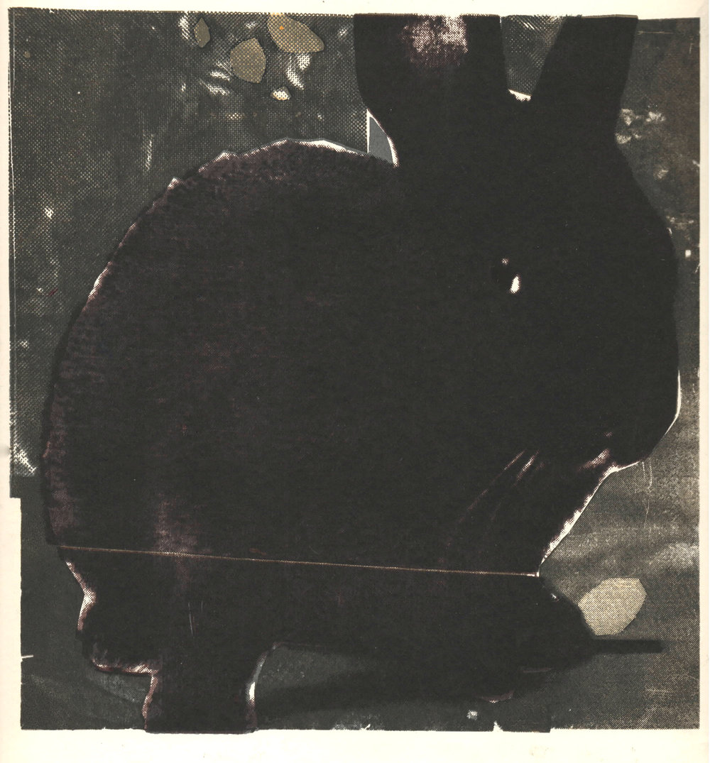 Black Bunnies, silkscreen, 2014