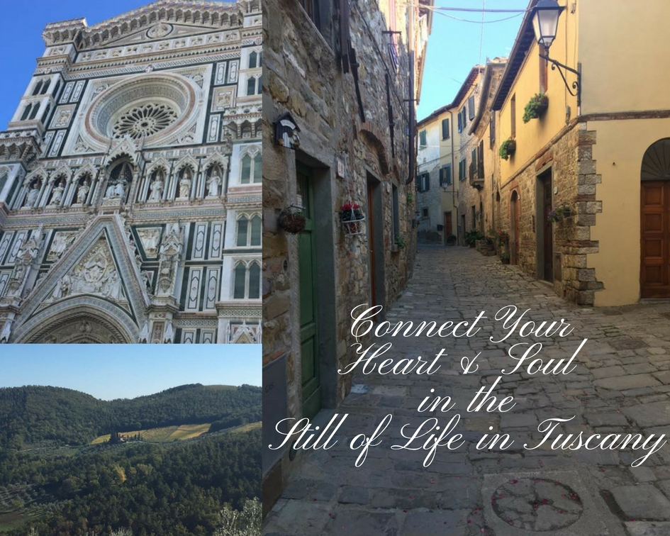Fall 2019 Retreat in Italy - Spend 10 days in glorious, Tuscany, Italy. Soaking up the amazing vistas, personalized cooking classes from a top notch restaurateur and chef, the countryside pace of life, time exploring Florence, see the statue David, personalized winery tours, authentic Italian food, yoga classes, mindfulness practices and much, much more.