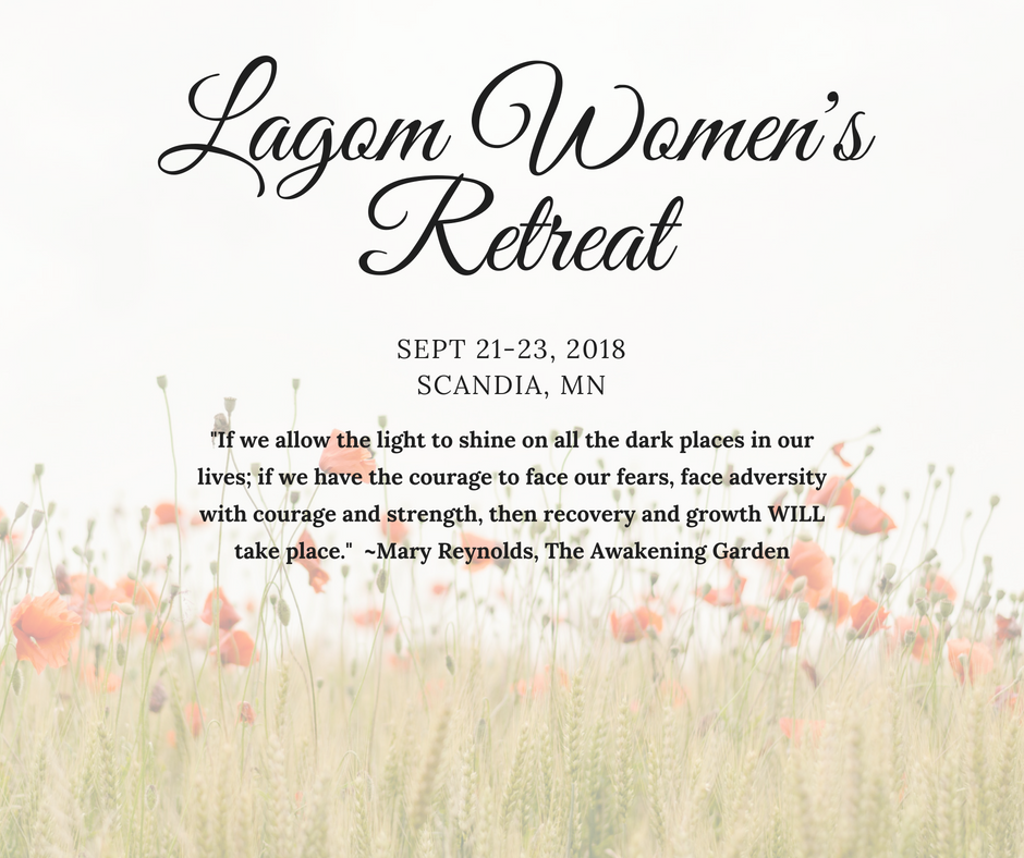 Lagom Retreat will be held in lovely, Scandia MN.