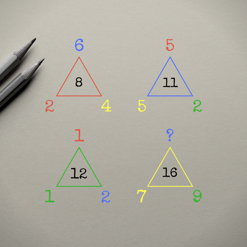 More Triangles?!? - Can you solve for the missing blue number?