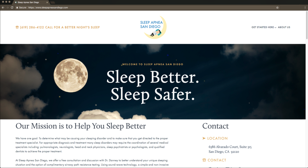 Website Design, Branding Sleep Apnea San Diego View Details