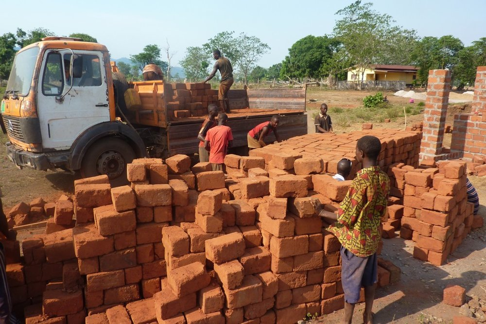 bricks arriving on site.JPG