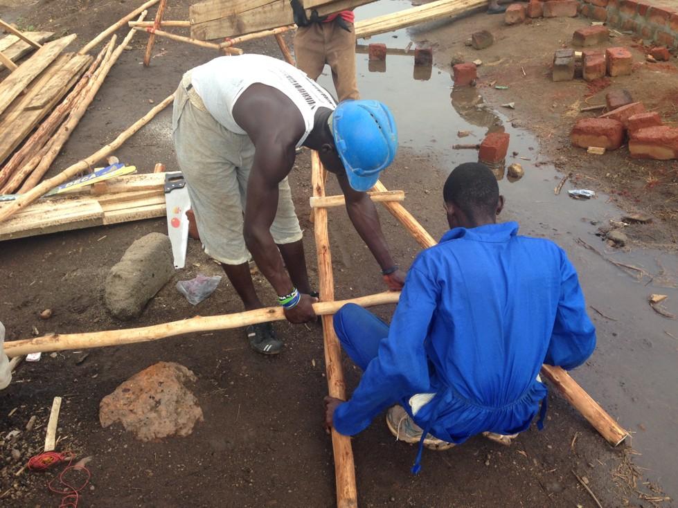 Building the scaffolding.JPG