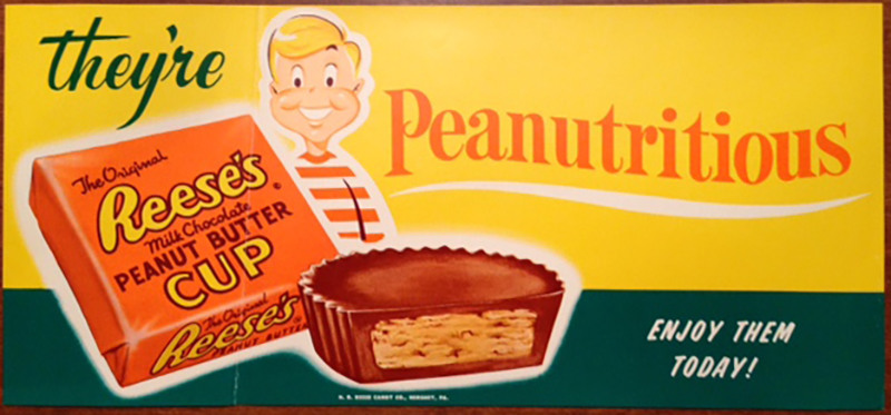 Was it Hershey or Reese that made Peanut Butter cups great, Atlas Obscura - An article that details the history of the Reese's Peanut Butter Cups, from Harry Burnett Reese's Hershey, Pennsylvania, pb cub prototype in the early 1900s to his factory to being bought out by the Hershey Corporation.