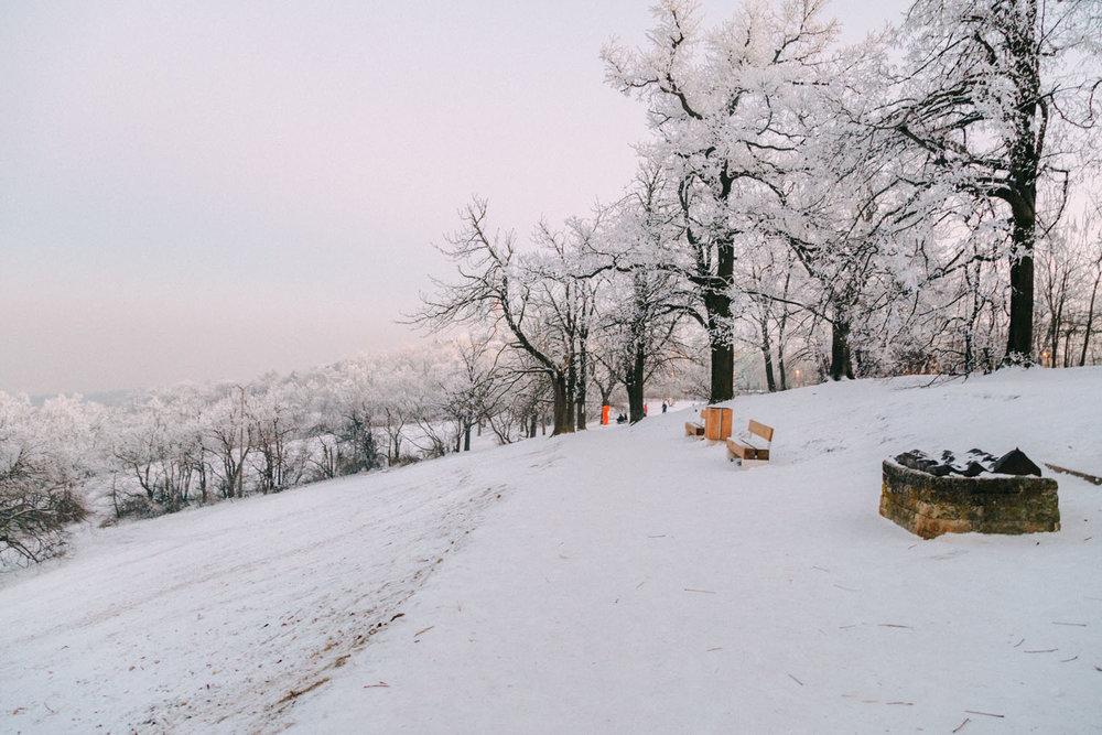 Budapest under snow, Hungary