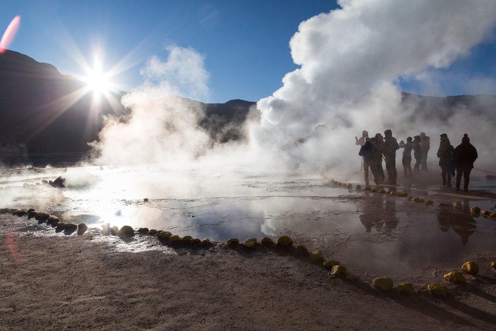 El Tatio geysers in Atacama, Chile