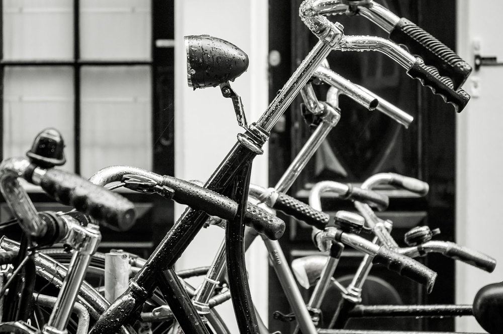 Bikes in Amsterdam, Holland