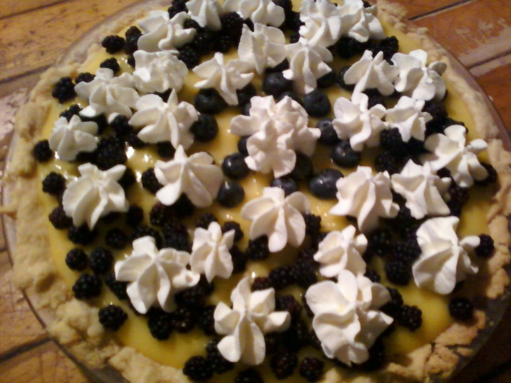 A pie Chloe made.