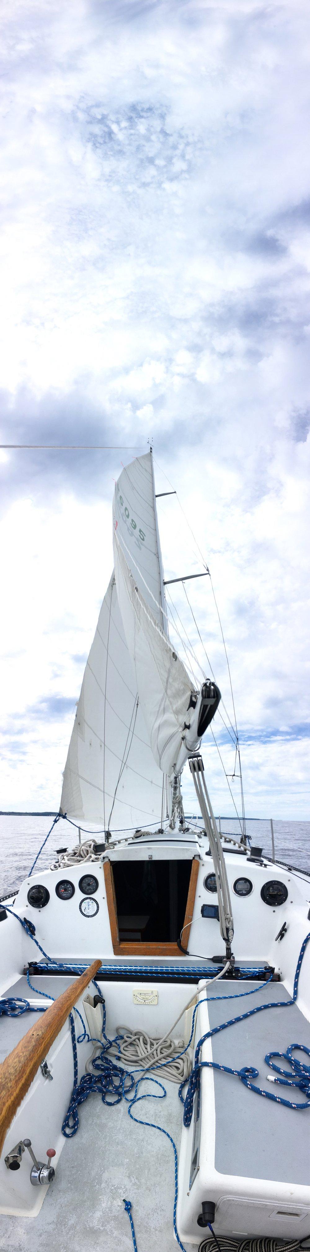 The sailing vessel Bernard. Photo by Todd Everett.