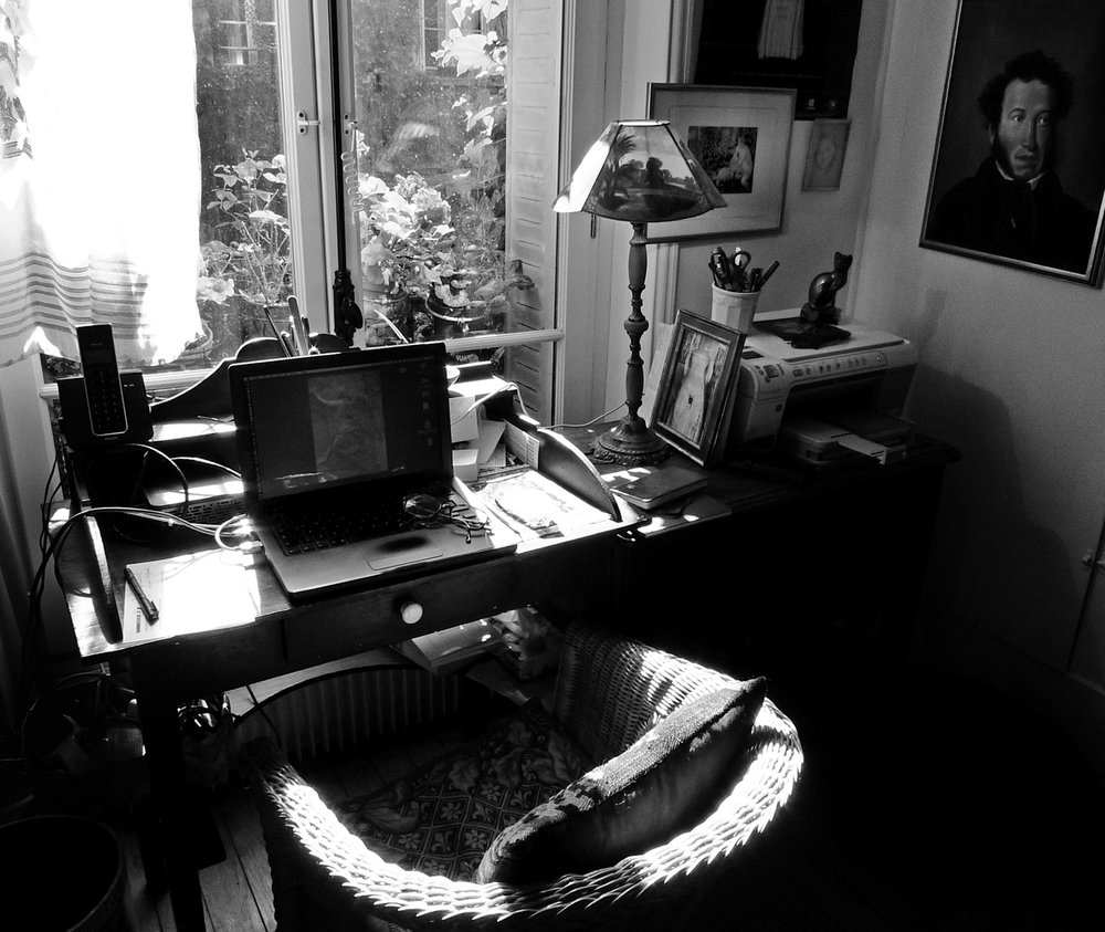 My writing desk in Paris.