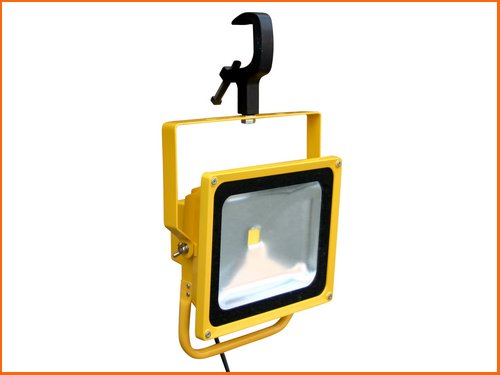 Corded (or emergency backup) LED floodlights