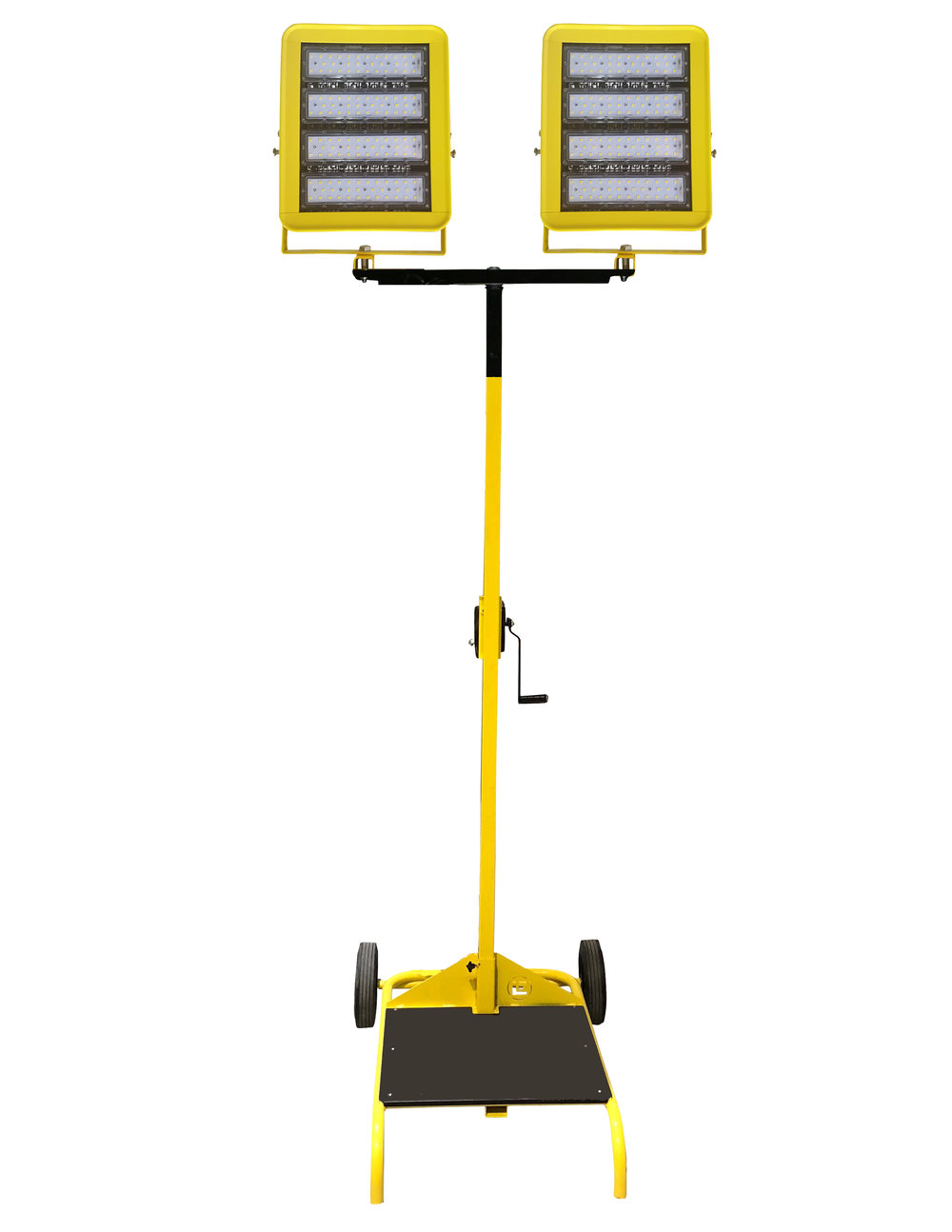 Beacon980 Wide Area LED Cart Light with winch and 12' mast height.  Same light output as 2 x 1000W metal halide lights.   Unit with one light head:   Cat Class: 110-1553  Part Number: LE980LED-CART-W   Unit with two light heads:   Cat Class: 110-1555  Part Number: LE980LED-CART-TD-W