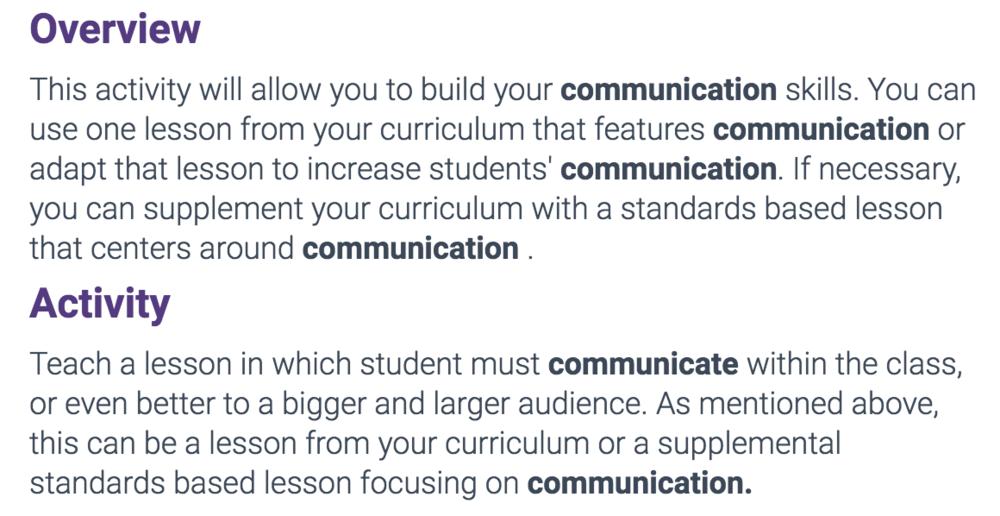 Alisal Union School District, Communication Lesson