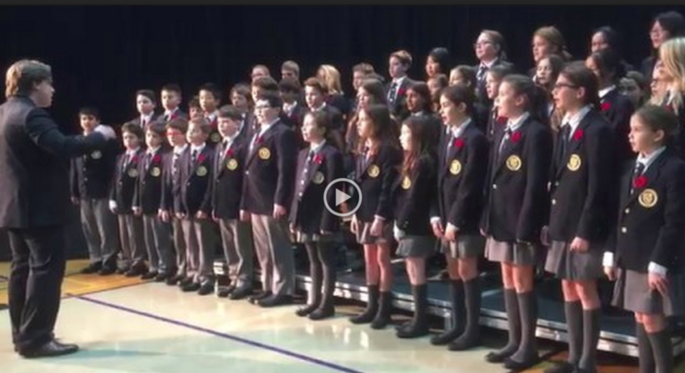 Grade six choir