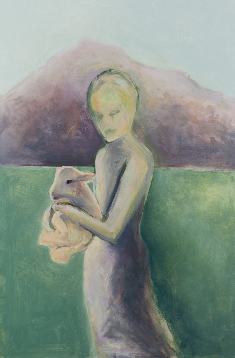 Woman and Lamb 4