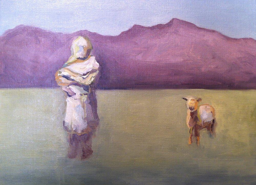 Woman and Lamb 3