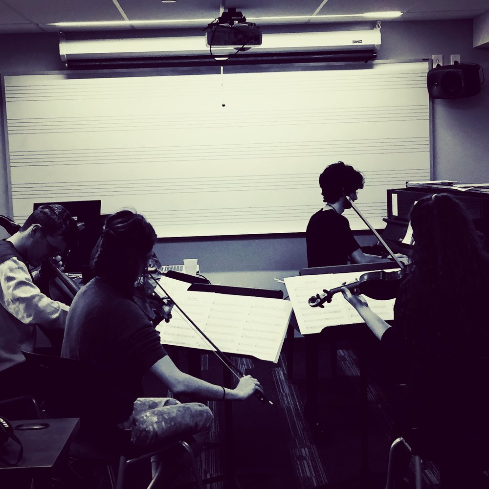 Rehearsal, String Quartet and Piano / Berklee College of Music