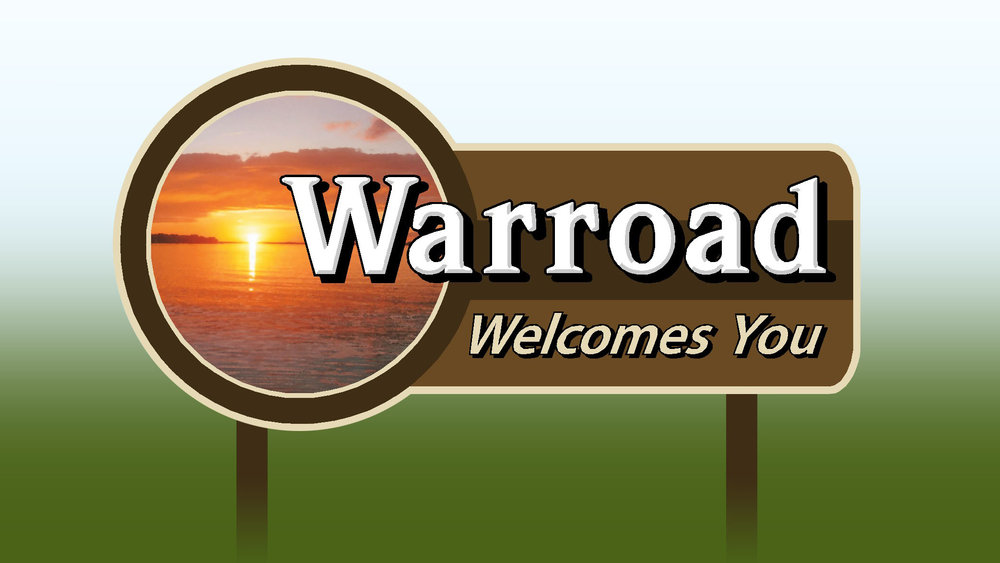 Warroad Welcome Sign