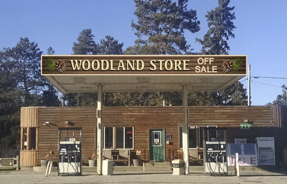 Woodland Store Gas Canopy