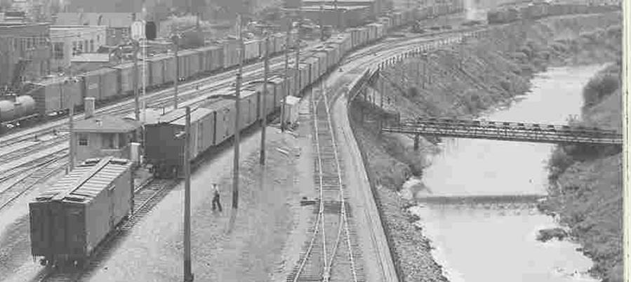Then - the bridge that carried workers from Silver City to work in the Milwaukee Road Shopts