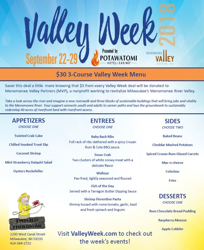 Click image to view the special Valley Week menu.