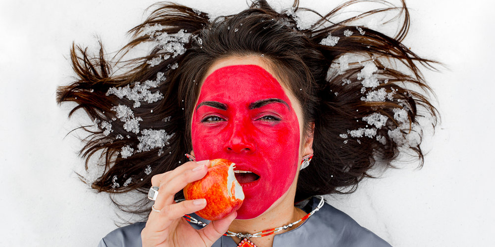 'Devouring Picikwas', Lana Whiskeyjack & Rebecca Lippiatt, 2015 #YEGCanvas Exhibition