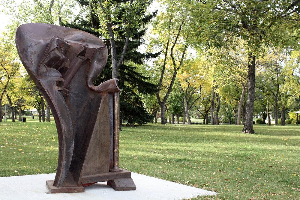 Gaekwar of Baroda , Peter Hide (1999), Inaugural Sculpture Exhibition 2014-17, Borden Park Edmonton