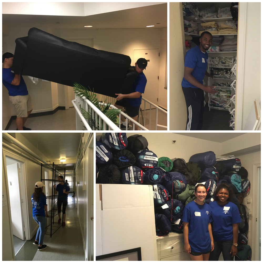 Nearly 30 volunteers from the DePaul University College of Law helped prepare the space for CHIL's new transitional housing units.