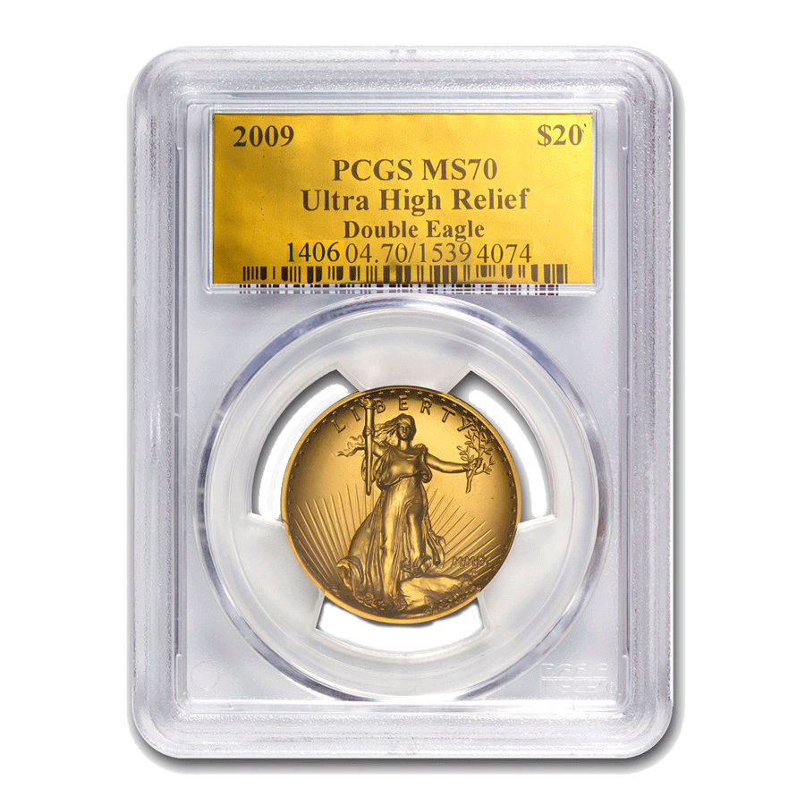 2009 Ultra High Relief Double Eagle MS-70