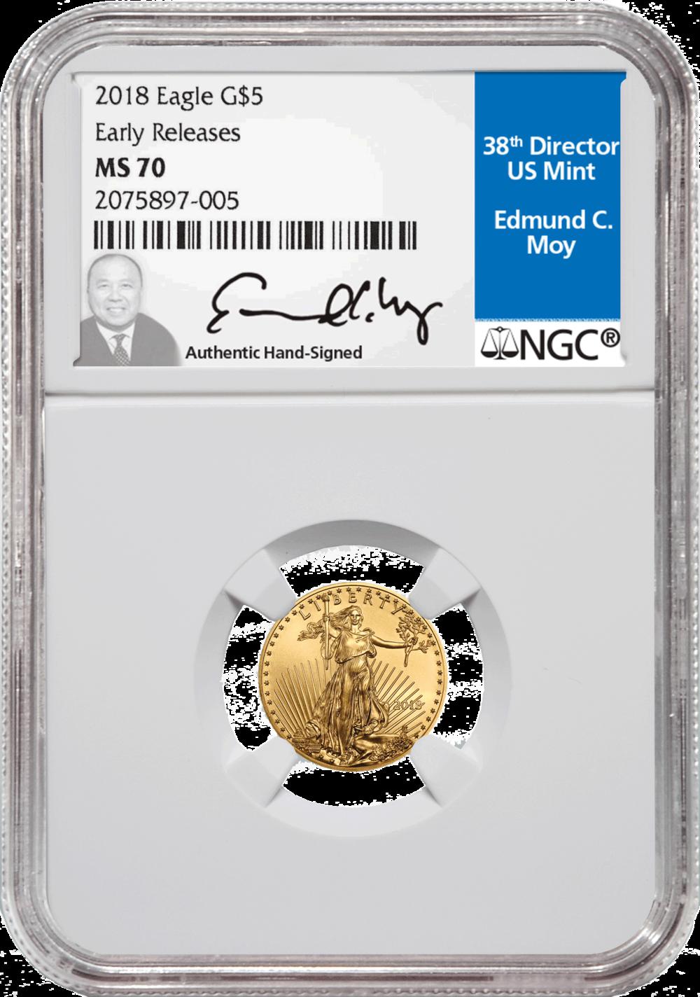 2018 $5 Eagle Gold